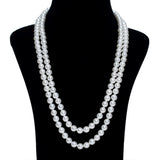 Imeora White Shell Pearl Necklace Set And Bracelet Combo