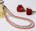 Green Reddish Pink Necklace