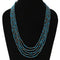 Imeora Exclusive Five Layer Chrysocolla Natural Stone Necklace