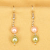 Imeora Green Pink 8mm Shell Pearl Earrings