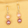 Imeora Pink Purple 8mm Shell Pearl Earrings