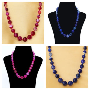 Imeora Pink And Royal Blue Agate Graduation Combo