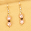 Imeora Pink 8mm Shell Pearl Earrings With Natural Hematite