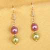 Imeora Purple Green 8mm Shell Pearl Earrings