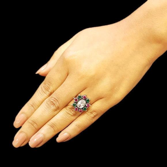 925 Silver Multicolor Ring