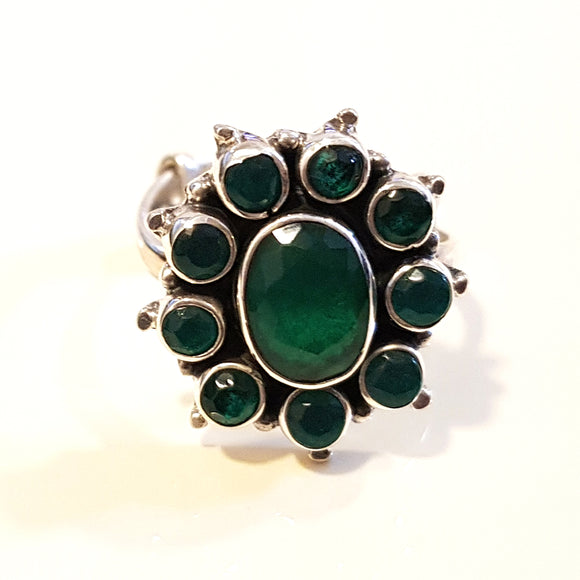 925 Silver Green Ring