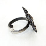 925 Silver Antique Look Adjustable Ring