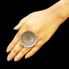 925 Silver Antique Look Tribal Ring