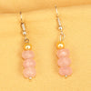 Imeora Rose Quartz Earrings With 5mm Shell Beads
