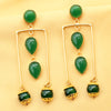 Imeora Tripple Green Stone Fashion Earrings