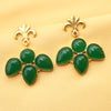 Imeora Green Fashion Stone Earrings