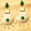 Imeora Light Weight Green Fashion Stone Earrings