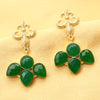 Imeora Green Stone Fashion Earrings