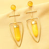 Imeora Yellow Stone Fashion Earrings