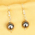Imeora Metallic Black 10mm Shell Pearl Earrings