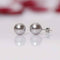 Imeora Silver 8mm Shell Pearl Necklace with 10mm Silver Studs