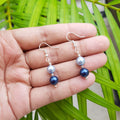 Light Blue Dark Blue Pearl Earring
