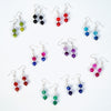 Imeora 10 Colors Agate 8mm Earrings Combo