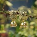 Imeora Designer Golden Jhumki Earrings