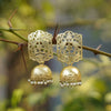 Imeora Designer Matt Finish Golden Jhumki Earrings