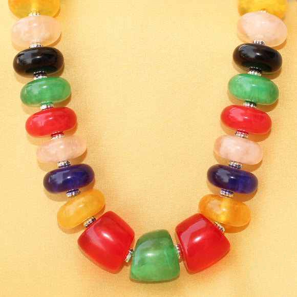 Imeora Multicolor Disc Shaped Beads Necklace