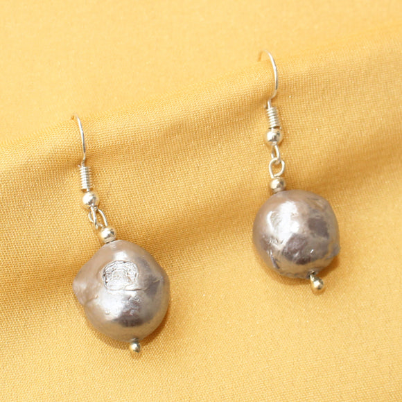 Imeora Silver Color Baroque Pearl Earrings