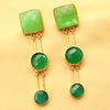 Imeora Light Green Tripple Stone Fashion Earrings
