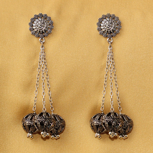 Imeora Ganpati Studs With Three Hangings