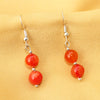 Orange Agate Earring