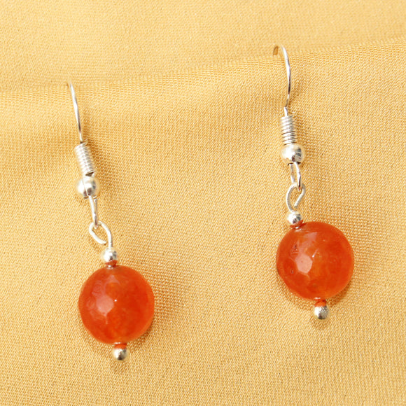 Imeora 10mm Orange Quartz Earrings