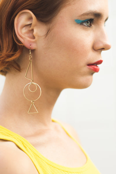 Planes Figure Dangle Earring