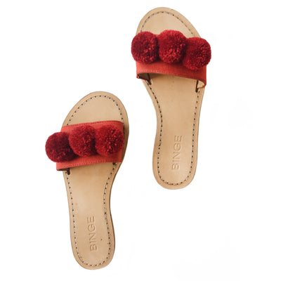 Kai Pom Slip-On, Crimson
