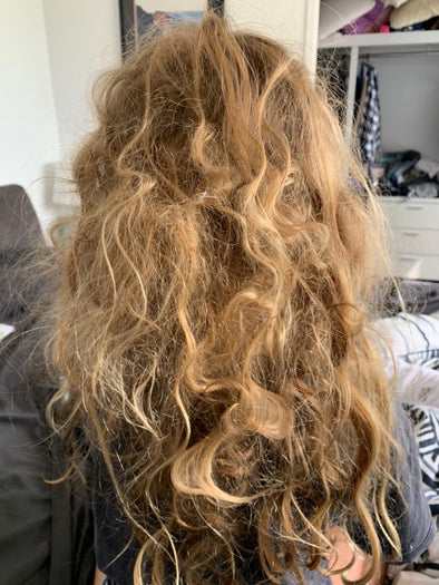 Knotty, kids hair in the morning