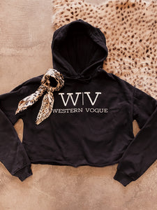 The Western Vogue Cropped Hoodie
