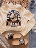 The Let's Rodeo Texas Cropped Sweatshirt