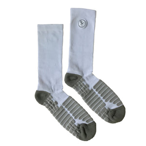 Shooter Impact Socks – White/Grey