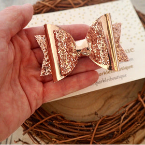 Rose Gold Metallic Bow
