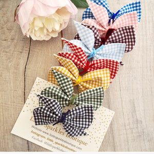 Gingham Scrunchie Bow