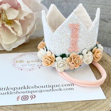 Peach And White Birthday Crown