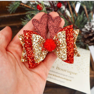 Red And Gold Raindeer Ears
