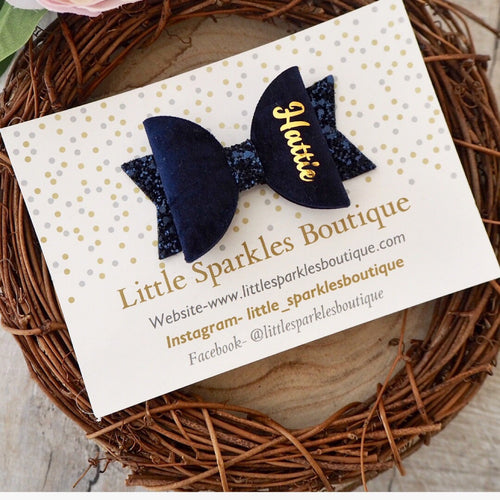 Navy Personalised Bow