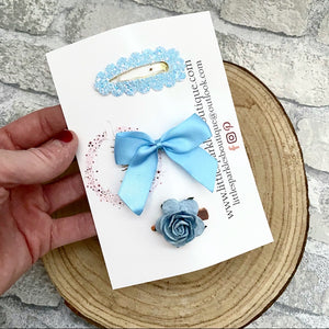 Blue Spring Mini Clip Set