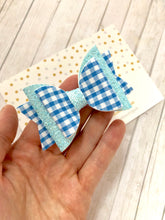 Sky blue school bow
