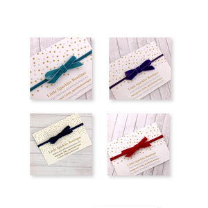 Velvet Tie Bow (Variety Of Colours)