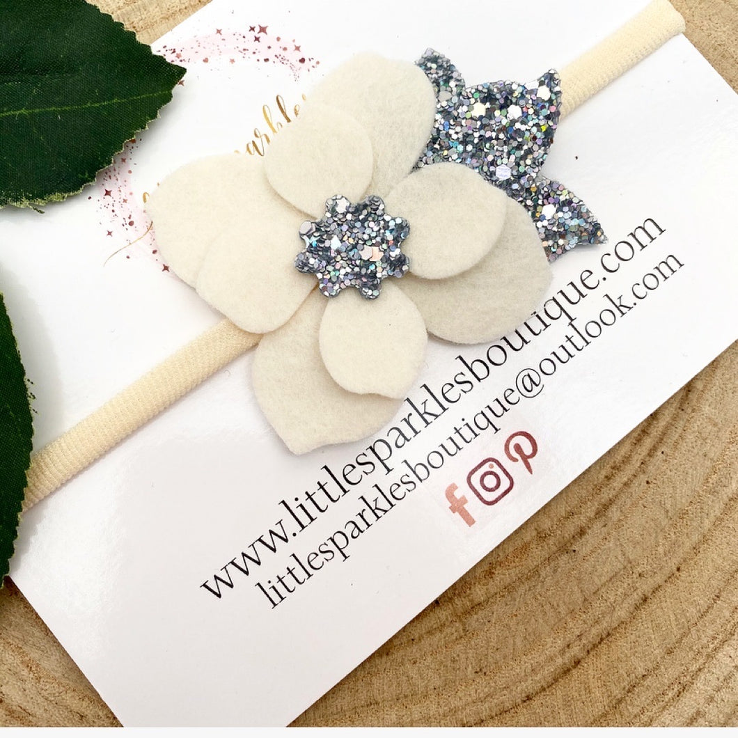 Cream And Silver Flower