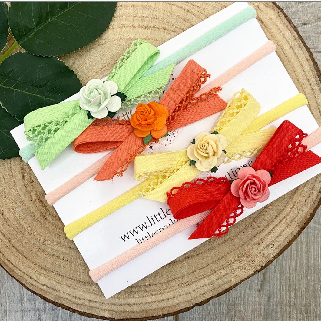 Spring Frill Edge Bows (Individual Or Set)