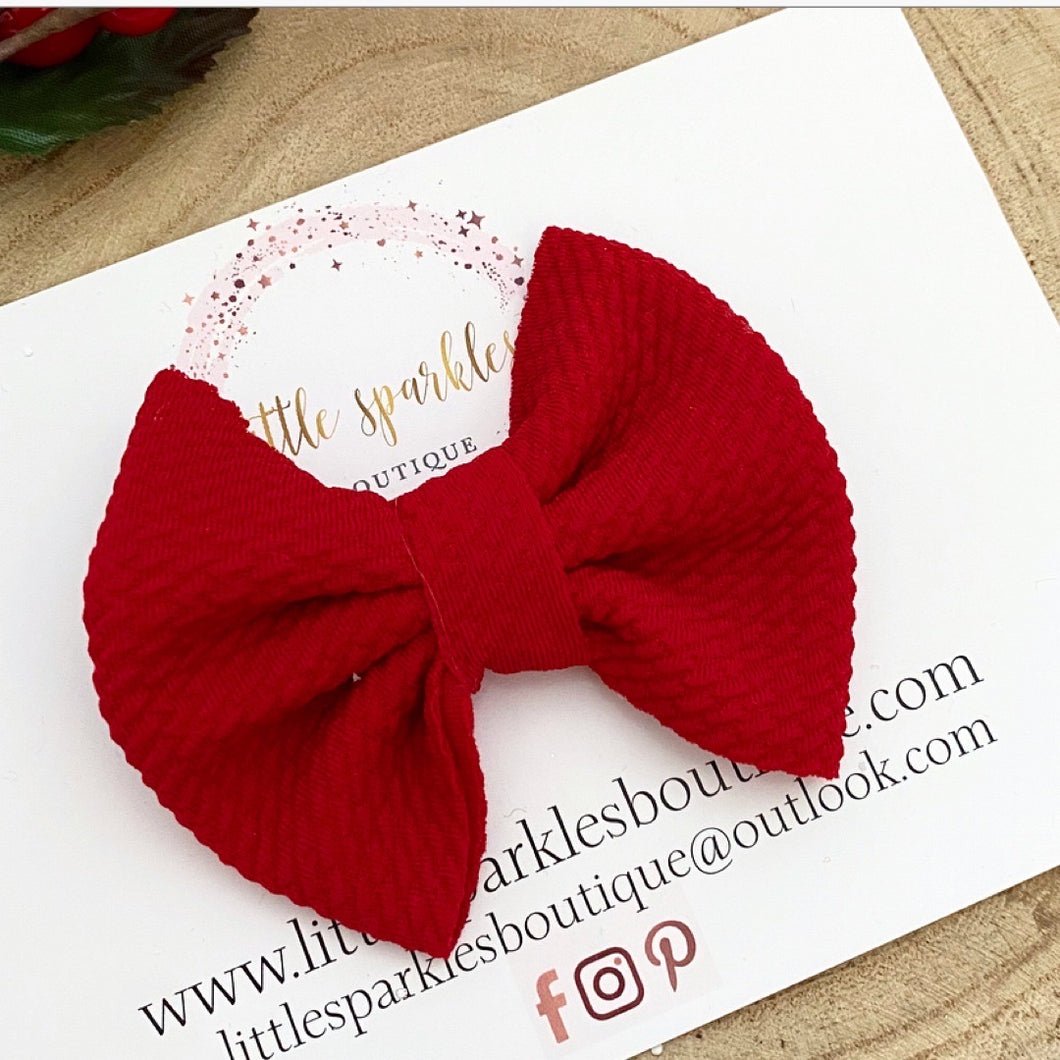 Red Mini Bullet Bow