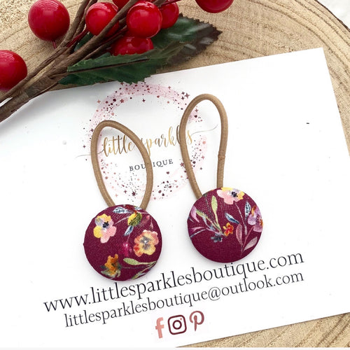 Plum Floral Piggies Set