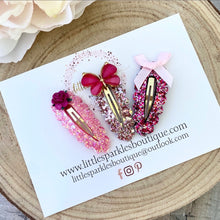 Butterfly Pink Snap Clip Set
