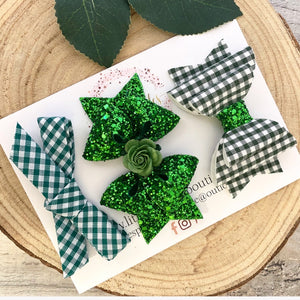 Green School Bow Set